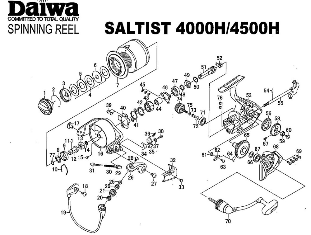 DAIWA SALTIST 4500H SPINNING REEL - Service and Maintenance ... on